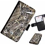 Hairyworm- avions Samsung Galaxy S3 Mini (I8190, I8190N) étui en cuir pour téléphone avec rabat, style portefeuille avec emplacements pour les cartes et l'espèce, et fermeture magnétique.