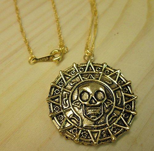 Fluch der Karibik Halskette Azteken Gold Pirates of the Caribbean Jack Sparrow (Ware Jack Sparrow)