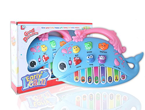BBLIKE Baby Keyboard Piano Musical Toy- Music Instrument Electric Toy With Songs Animal Sound Piano Note Color Recognition, Preschool Develops Motor Skills & Encourage Exploration