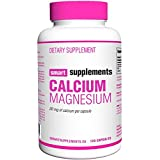 Smart Supplements Calcio Magnesio Suplemento - 120 Cápsulas