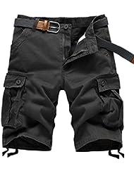 ZSHOW Homme Pantalons Courts de L'été Cargo Travail Short Casual Sports Relaxed Uni Pockets