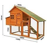 Hühnerstall mit Freilauf und Nistkasten Fichtenholz 171 x 66 x 120 cm Gitter und Kotwanne verzinkt - 4