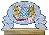 Kaltner Präsente Geschenkidee - Stammtisch Tisch Aufsteller aus Holz 27 x 18 cm