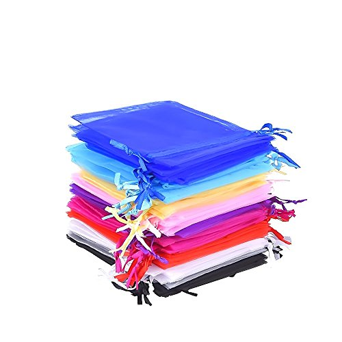 mudder-50-pieces-10-colors-multi-colored-organza-gift-bags-wedding-party-favor-bags-jewelry-pouches-