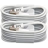 Cell Phone DIY - iPhone Cable [Set of 2], Apple MFi Certified USB Sync and Charging Lightning Cable for iPhone 6, 6 Plus, 5S, 5C, 5, iPad 4, iPad Air, iPad Mini (1m / 3ft White)