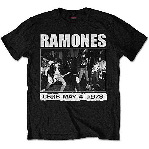 Hommes The Ramones CBGBs 1978 Punk Rock T-Shirt Officiel Hommes