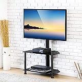FITUEYES Giratorio Mueble HiFi con 2 Estantes Soporte de Suelo para TV LCD LED OLED Plasma...