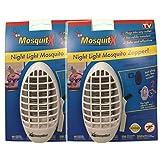 Lampada Zanzariera e pacchetto economico x2potente Dispositivo mosquit-x migliorato per controllo e repulsione delle zanzare per casa, Ufficio, Cameretta dei bambini