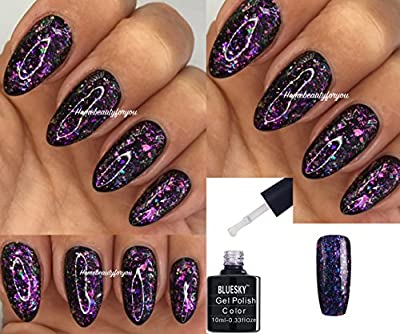 Bluesky Galaxy 06 Chameleon Flakes Nail Gel Polish UV LED Soak Off 10ml PLUS 2 Homebeautyforyou Shine Wipes