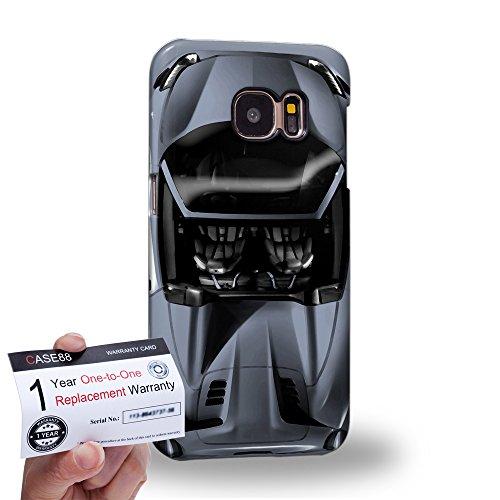 Case88 [Samsung Galaxy S7] 3D Hülle / Schutzhülle & Garantiekarte - Art Design Sliver Sport Car