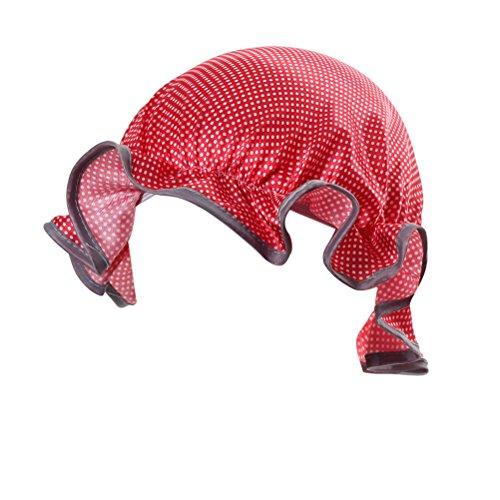OUNONA Bonnet de Couche Double Couche Imperméable à L'Eau pour Bébé Enfants (Rouge)