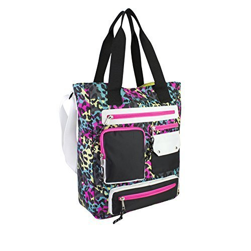 eastsport-multi-pocket-organizational-tote-neon-cheetah-by-fuel