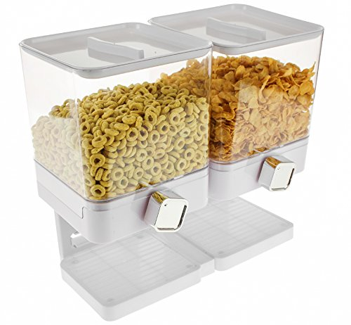 United Entertainment–Dispensador/muesli y cereales Dispensador/Corn Flak dispensador dispensador/Individual/Doble dispensador/Triple dispensador para cereales, Corn Flakes y cereales