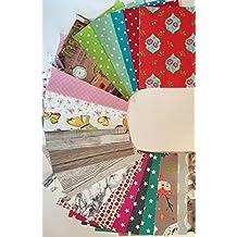 d-c-fix® - Fogli autoadesivi multicolori, formato A4 (decoro, legno e