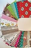 d-c-fix® Selbstklebende Vinylfolie, Packung mit 20 Stück in verschiedenen Farben (Dekor), Größe DIN A4