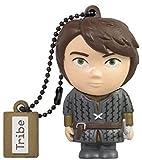 Tribe Game of Thrones Aria USB Stick 16GB Speicherstick 2.0 High Speed Pendrive Memory Stick Flash Drive, Lustige Geschenke 3D Figur, USB Gadget aus Hart-PVC mit Schlüsselanhänger – Grau