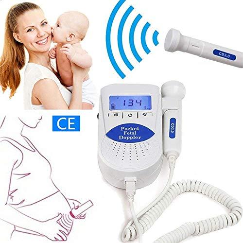 Wpyy Schwangere Herzmonitor Großes LCD-Display mit Lautsprecher Baby-Herzschlagfrequenz-Monitor für Doppler Prenatal Heartbeat Detector