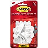 Command Small Utility Hooks, White, 6-Hooks (17002-6ES)