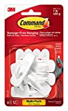 Command Small Hooks with Strips Value Pack - White, Pack of 1