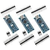 IZOKEE 3 Stück Mini Nano V3.0 Modul Entwicklerboard für Arduino ATmega328P CH340G Chip, 5V 16MHz