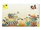 GRAZDesign 501940_50x30_GL_MT Glas-Magnettafel Streifen mit bunten Fischen und Korallen | Schreibtafel - Glasbild | super für Küche - Wohnzimmer - Flur (50x30cm // Sicherheitsglas + 6 Magnete + 2 Stifte)