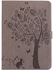 BONROY - Zapatillas de tenis de mesa para hombre Cats and tree - gray