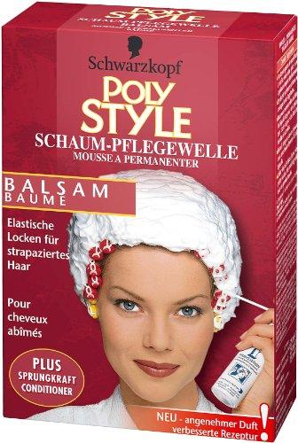 Schwarzkopf Poly Style Balsam, Schaum-Pflegewelle, 5er Pack (5 x 170 ml)