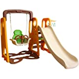 Fitness World 3 in 1 swing and slide With Basketball Game, Multi Color - 100100000115