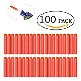 100er Darts Nachfüllpack N-Strike Soft Mega Schaum Elite Pfeile blaster für Nerf Zubehör Spielzeug Bullets (Rot)