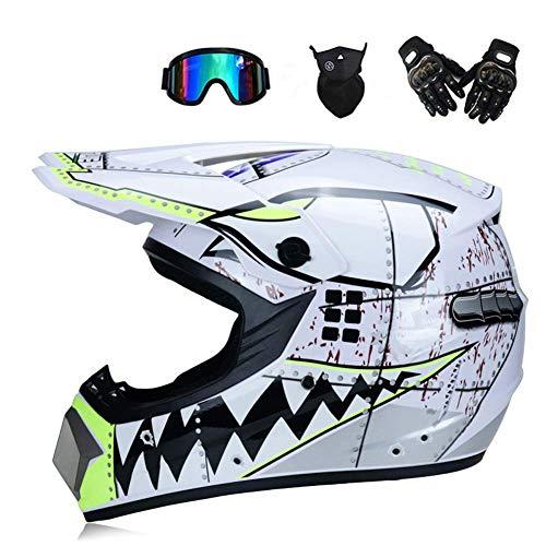 Ocean Pacific Motocross Casco Gafas Guantes Máscara