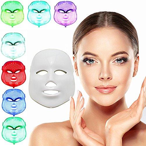 [neue Version 2017] Havenfly 7 Farbe LED Maske Licht Haut Verjüngung Therapie Gesichts-Maske Schönheit Gesichts-Peeling Machine Daily Skin Care Home - Sehen Die Gesichts-maske Durch Zu