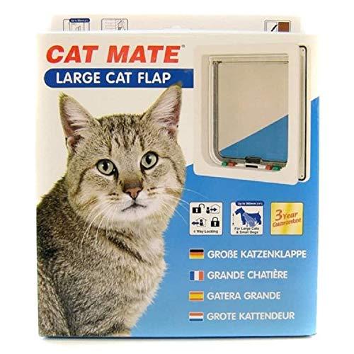 *Rosewood 11029 CatMate Katzenklappe, groß, weiß*