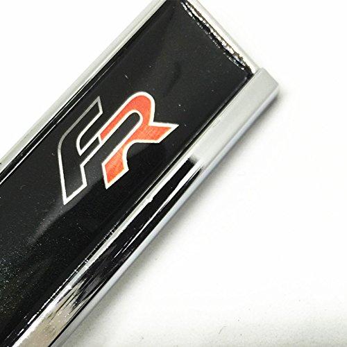 2x Emblème Logo fr pour LATERAL Adhésif métallique chromé et noir sea