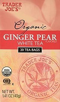 Trader Joe's Organic Ginger Pear White Tea 20 Tea Bags Delicious