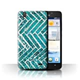 Stuff4 Phone Case for Huawei Ascend G630 Teal Fashion