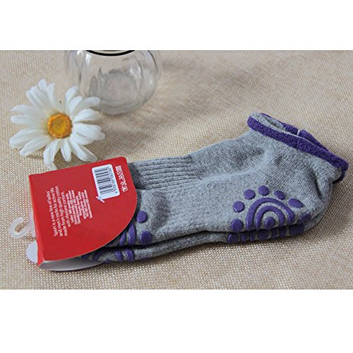 Sijueam Winter Yoga Socks Non slip Cotton with Full Grip Skid & No pilling for Pilates Yoga Exercise Fitness Gym Home Workout ,1 size Adult -Very Comfortable Breathable