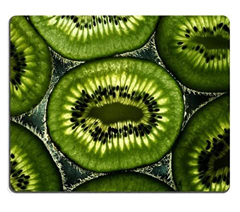 tranches de kiwi lumière Graines Fruits Tapis de souris van