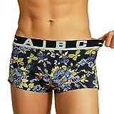 Bóxer para hombre, ❤️Xinantime Dibujos animados imprime bragas de algodón suave bragas Pantalones cortos de la ropa interior atractiva para hombre Calzoncillos, tamaño M-XXL (XL, ❤️Morado)
