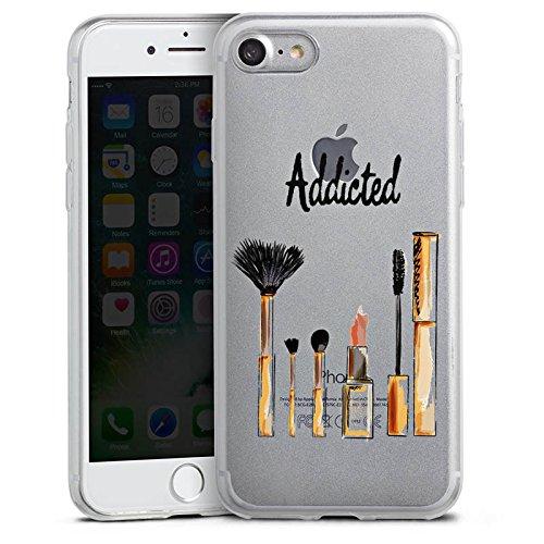 Apple iPhone 8 Slim Case Silikon Hülle Schutzhülle Make Up Kosmetik Lippenstift Silikon Slim Case transparent