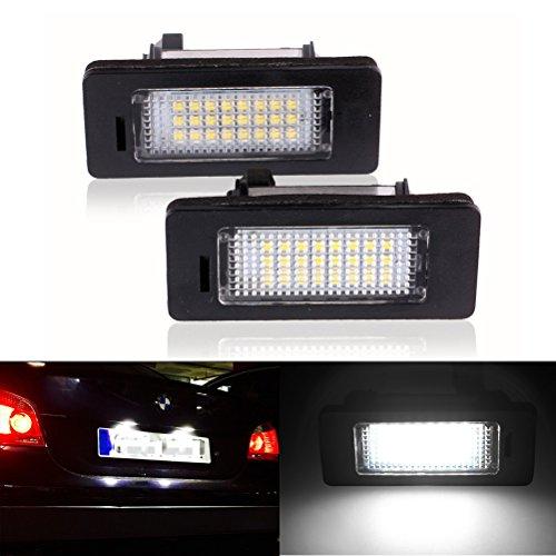 Ralbay LED Licenza Luce Targa 6000k Xeno Bianco E82 E90 E92 E93 E39 E60 E70, 2 Pezzi