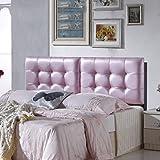 QiangDa Rückenlehne Bett Kissen Ohne Das Kopfteil an der Wand Befestigt Entlasten Müdigkeit Weiches Kissen, 10 Farben, 4 Größen Wahlweise (Farbe : Pink, Größe : 150 x 58cm)