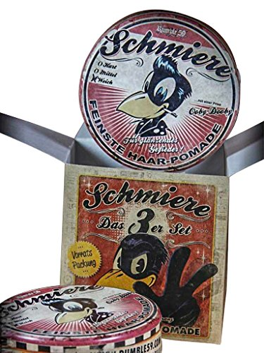 Schmiere - 3er Set Pomade Glanz/ Weich - Pomade from Rumble59 (Bath Soap-geschenk-set)