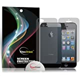 ElecShiled Premium Screen Protectors for Apple iPhone 5 / 5S 6x Front & 6x Back / Rear - Value Pack of 6 (Ultra Clear)