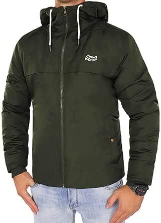 Jack & Jones Originals Jacket Mens Hooded Long Sleeve Zip Coat Jornew Canyon 12137648