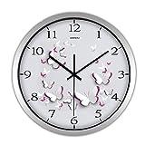 PQPQPQ Decorationmodern Calme Creative Horloge Murale Metal Quartz 12 cm Chambre Single Pas élégant Round Tick-R 12inch