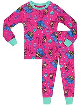 Shimmer & Shine - Pijama para niñas - Shimmer y Shine - Ajuste Ceñido