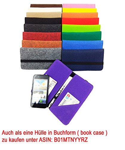 handy-point 5,6 - 6,4 Zoll Filztasche Handytasche Handyhülle Tasche Hülle Schutzülle aus Filz für LG V20, LG Stylus 2, Lenovo Moto X Style, HTC U Ultra, Xiaomi Mi 5S Plus, Mi Mix, Nokia 8, Asus ZenFon Blau dunkel