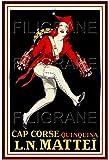 Herbé TM Quinquina Cap Corse MATTEÏ - Poster/Reproduction A3+ (33x48cm) d1 Affiche Vintage/Ancienne/Rétro (BR*)