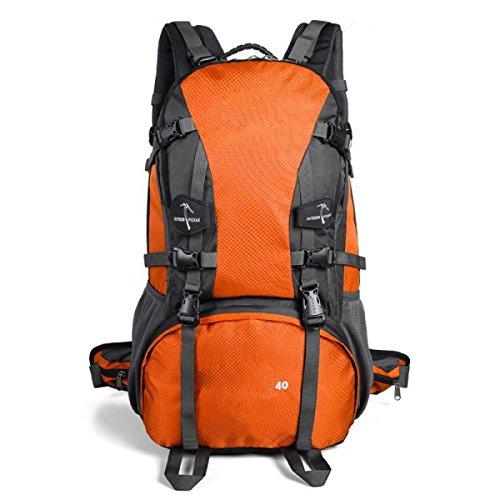 Sporttasche Outdoor Wasserdichte Bergsteigen Rucksack Large Capacity Travel Wandern Klettern Daypack,FruitGreen Orange