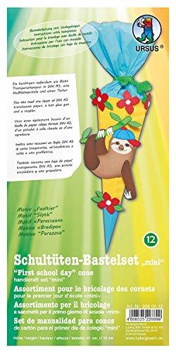 Ursus 9860012Schuman ltüten Juego de Manualidades Mini, Perezoso, 6de Rectangular, Aprox. 41cm